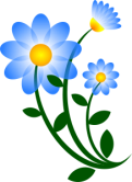 Blue flower via openclipart.org