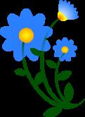 Blue flower via openclipart.org