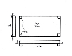 Single-Tier Bed Plan