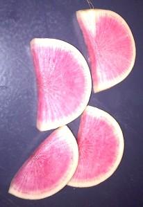 Cut Watermelon Radishes