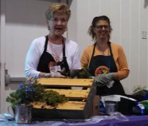 2013 Carolina Yard Gardening School ~ Making a pallet herb garden