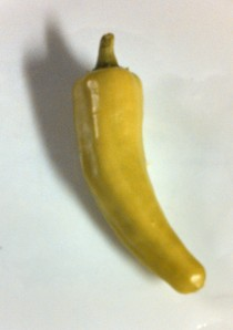 My pepperoncini ~ shaped like a banana pepper