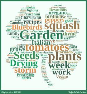 Sanctuary Gardener wordcloud