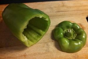 Pepper cut for stuffing