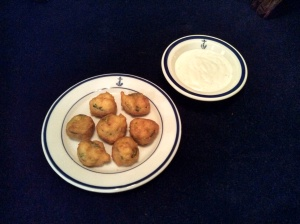 Fried jalapenos and ranch dressing