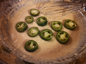 Jalapenos in the batter