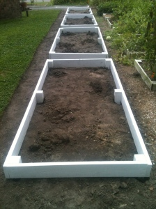 All new raised beds installed