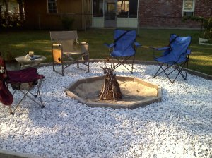 My firepit ready for friends