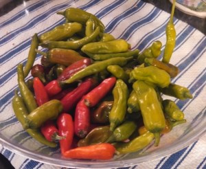 A pound of hot peppers