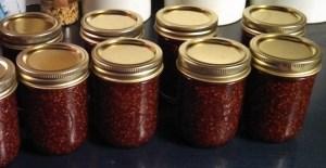 Raspberry preserves