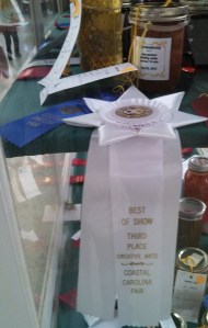 Fig preserves ~ 1st place AND Best of Show 3rd place!