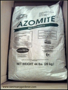 Azomite - volcanic rock dust