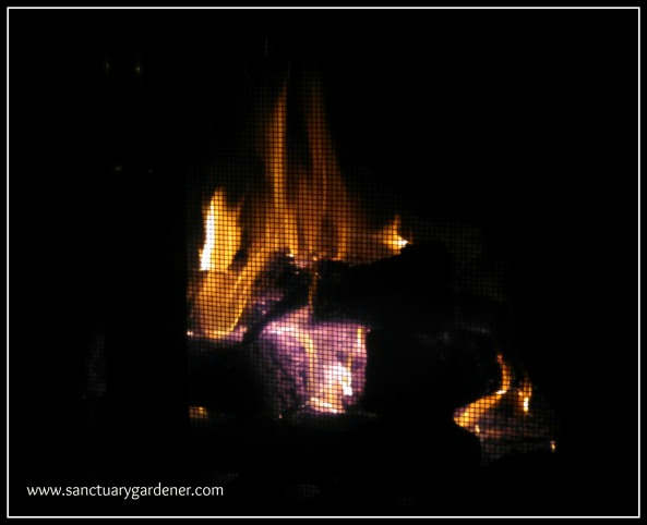 Reverse Fire Building ~ the fire is now burning the lowest level of logs