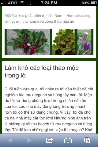 Sanctuarygardener.com article translated into Vietnamese