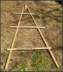 Teepee side laid out to determine cross member placement