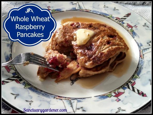 Whole Wheat Raspberry Pancakes Pic