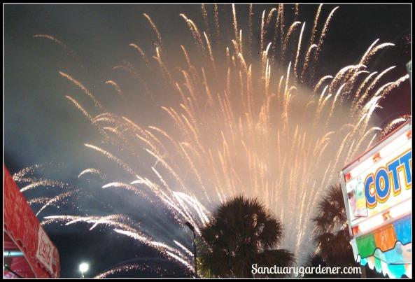 Fireworks spray
