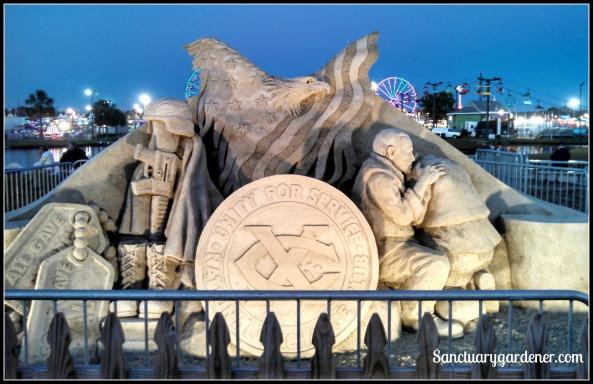 2014 Patriotic sand sculpture at the fair