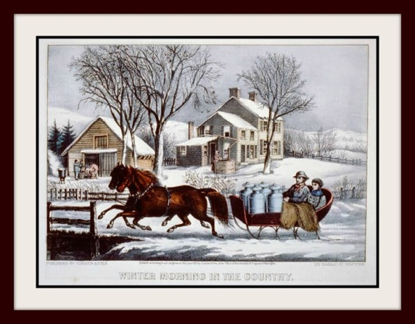 Winter Morning in the Country by Currier & Ives SG