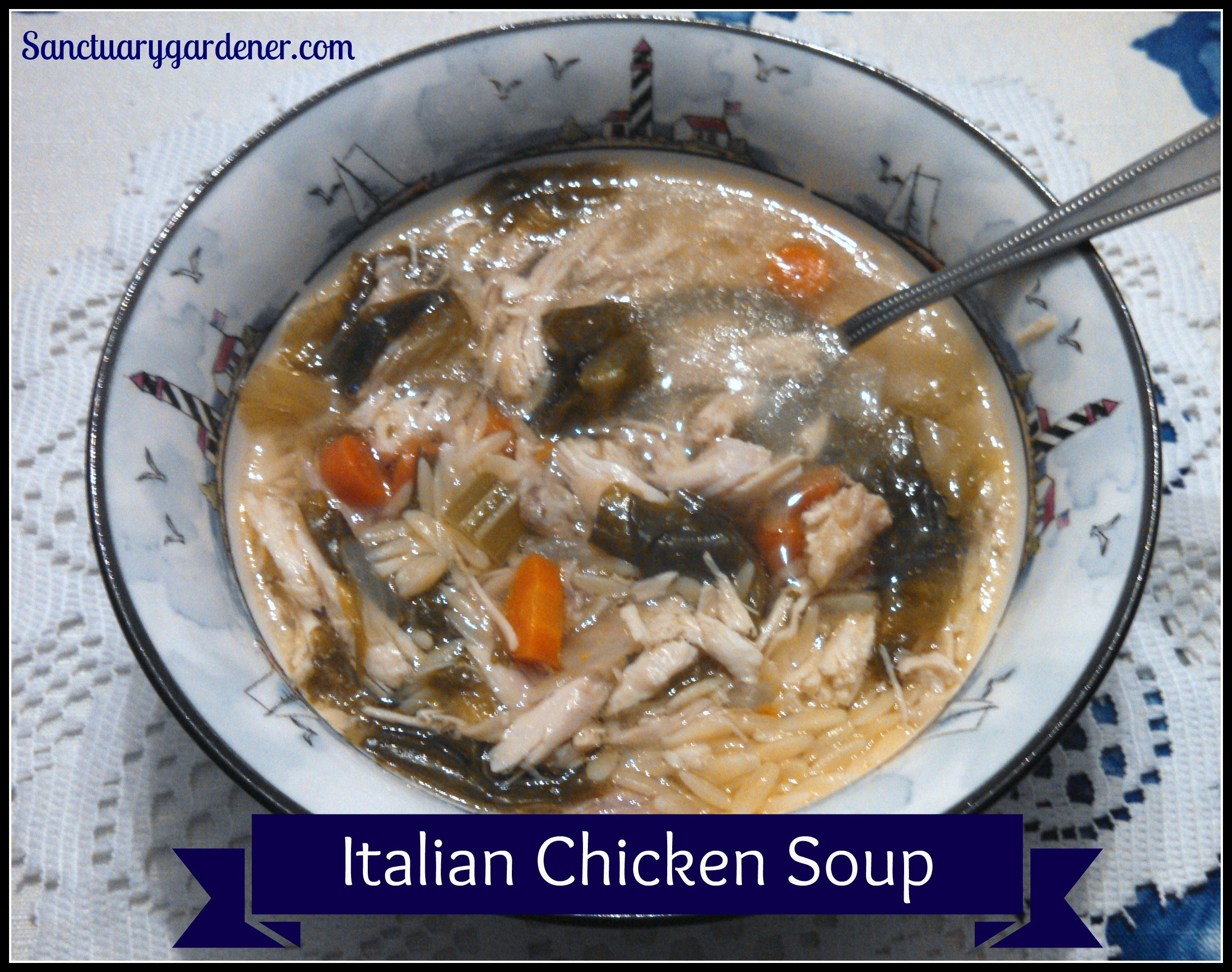Italian Chicken Soup | Sanctuary Gardener