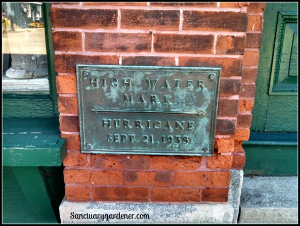High water mark during the Hurricane of 1938 in Wickford, RI