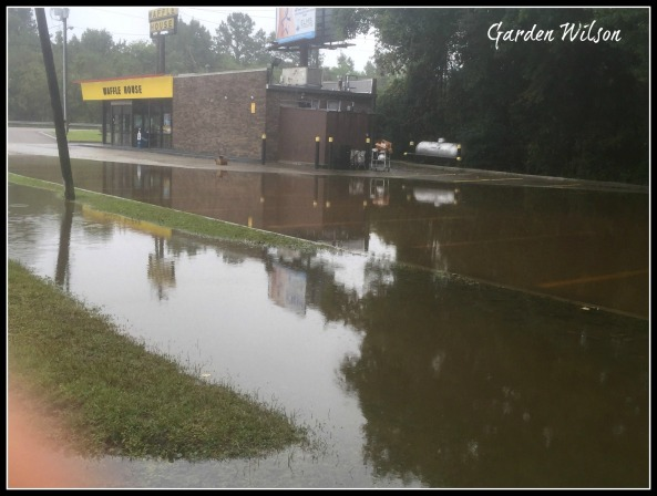 Waffle House on Monday, Oct 5, 2015 - AFTER the flood waters had receded some