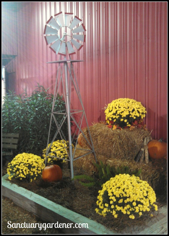 Fall arrangement outside the barn