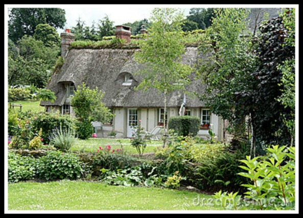 French cottage and gardens in Normandy (photo credit: dreamstime.com)